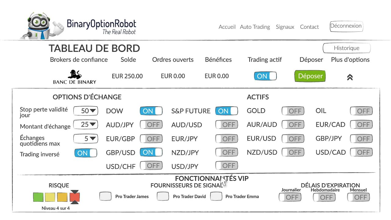 options binaires de vrais robots